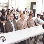 Schulleiter Reinhard Fahrenholz begrüßt die Anwesenden